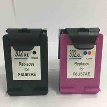 Vilaxh 302xl сменный чернильный картридж для hp с чернилами hp Deskjet 2130 1112 3630 Officejet 4650 4655 ENVY 4516 принтер
