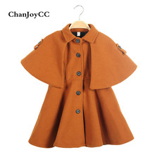 ChanJoyCC Winter Hot Sale Children's Coat Baby Girls Long Sleeve Fashion Lantern Sleeve Thickening Warm Outerwear For Kids