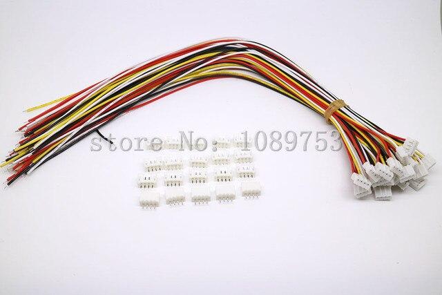 20 компл. Мини Micro JST 2,0 PH 4-контактный разъем с проводами кабели 100 мм 10 см