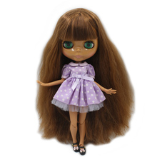 Factory Neo Blythe Doll Brown Hair Jointed Body 30cm
