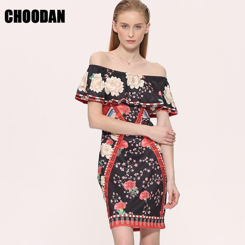 Vintage Floral Dress 2017 Summer Retro Bohemian BOHO