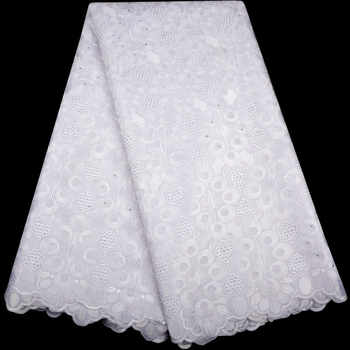 White High Quality Swiss Voile Laces Switzerland Cotton African Dry Cotton Lace Fabric 2018 Nigerian Man or Women Voile Lace - DISCOUNT ITEM  34% OFF All Category