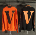 vlone x off white men hip hop V 3d printing  sweatershirts kanye west unisex high quality cotton hoodies sweatershirt
