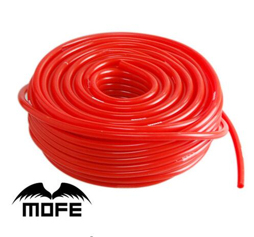 7.17 Mofe Silicone Vacuum Tube Hose Silicon Tubing Blue Red Black Car Accessories 5meter 3mm/4mm/6mm/8mm