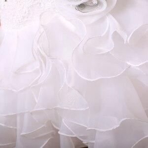 Image 4 - Бальное кружевное платье, женское свадебное платье с оборками
