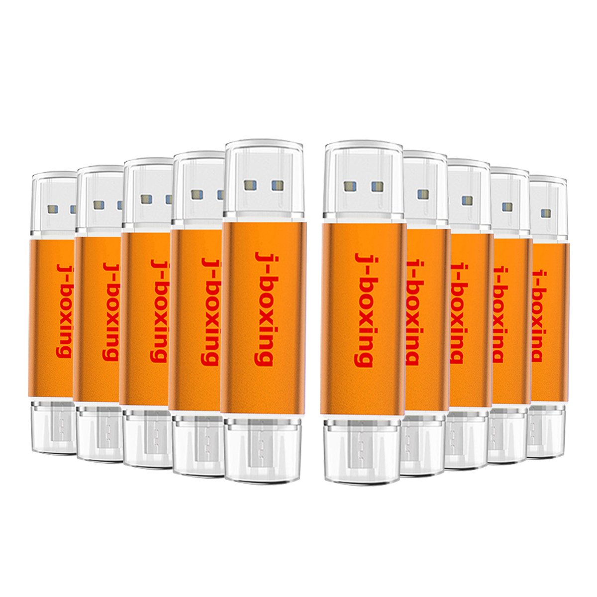 J boxing OTG USB Flash Drive 32GB 16GB 8GB 4GB Pendrives Micro USB 2 0 Memory Stick for Android Phone PC Multi color 10PCS pack in USB Flash Drives from Computer Office