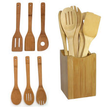 6pcs Bamboo Kitchen Utensils