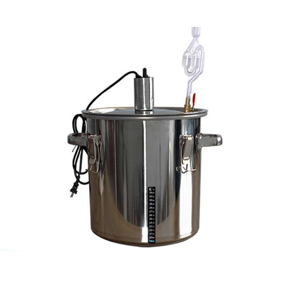 36L Home Wine Making Machines Stainless Steel Bar Set Wine Making Boiler Alcohol Brew Wine Distiller Barware Brewing Bachine