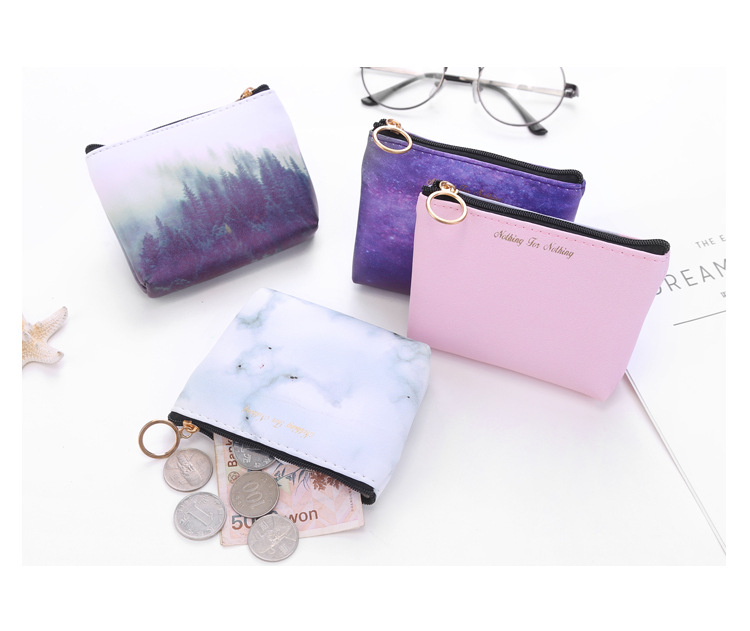 Fashion Women Men Coin Bag Pu Leather Coin Wallet Purse Cool Stars Universe Space Small Coin Money Key Card Holder Case Pouch cute cats coin purse pu leather money bags pouch for women girls mini cheap coin pocket small card holder case wallets