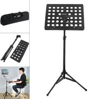 Flanger Folding Lightweight Music Stand Sheet Aluminum Alloy Tripod Stand Holder Height Adjustable with Carrying Cotton Bag