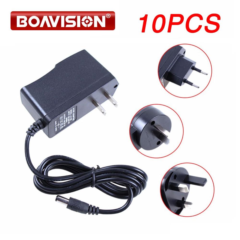 BOAVISION 10Pcs lot CCTV Camera Power DC 12V 1A To AC 110 240V Power Supply Adapter