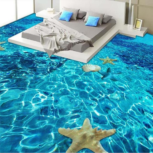 Beibehang moderne böden eigene malerei marine welt welligkeit biota ...