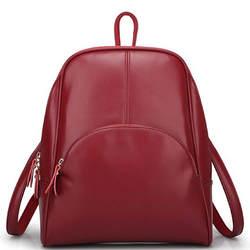 Монне cauthy Женские сумки лаконичный Классический корейский стиль Модные рюкзаки одноцветное Цвет цвет: черный, синий коричневый розовый