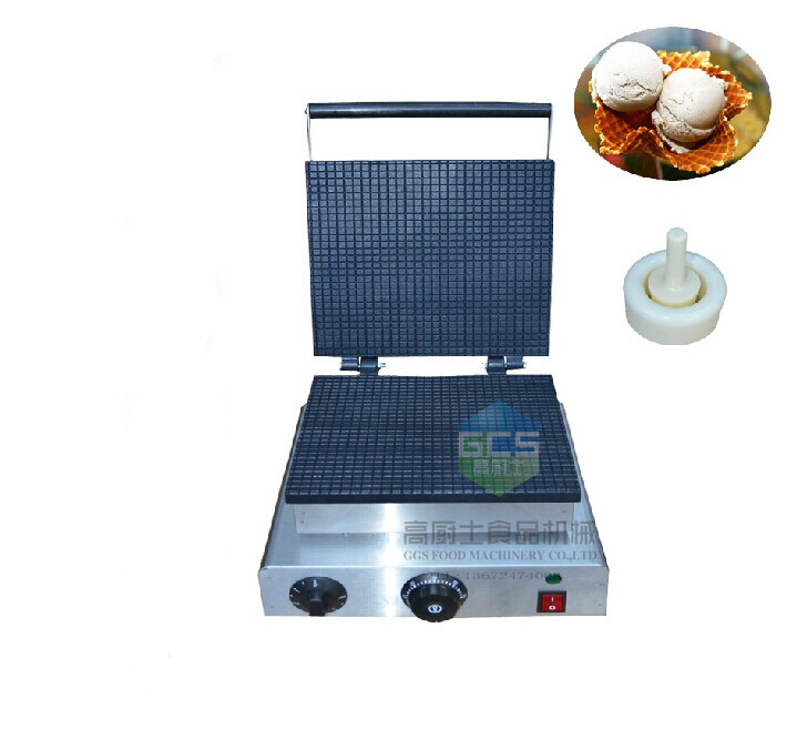 free shipping 110v 220v Electric square ice cream cone maker come with 2 tools thai fried ice cream rolls machine with double square pans with cover free ship by sea 50% deposit for dev