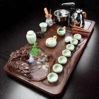 High quality Yixing Purple sand tea set Ceramic kung fu Teapot,handmade Purple sand teapot teacup gaiwan Tureen tea ceremony