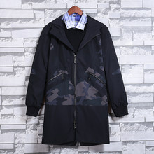 New autumn Men's camouflage trench Coat 2018 Brand Mens Fashion casual jacket slim fit men coats plus size M- 5XL 6XL(China)