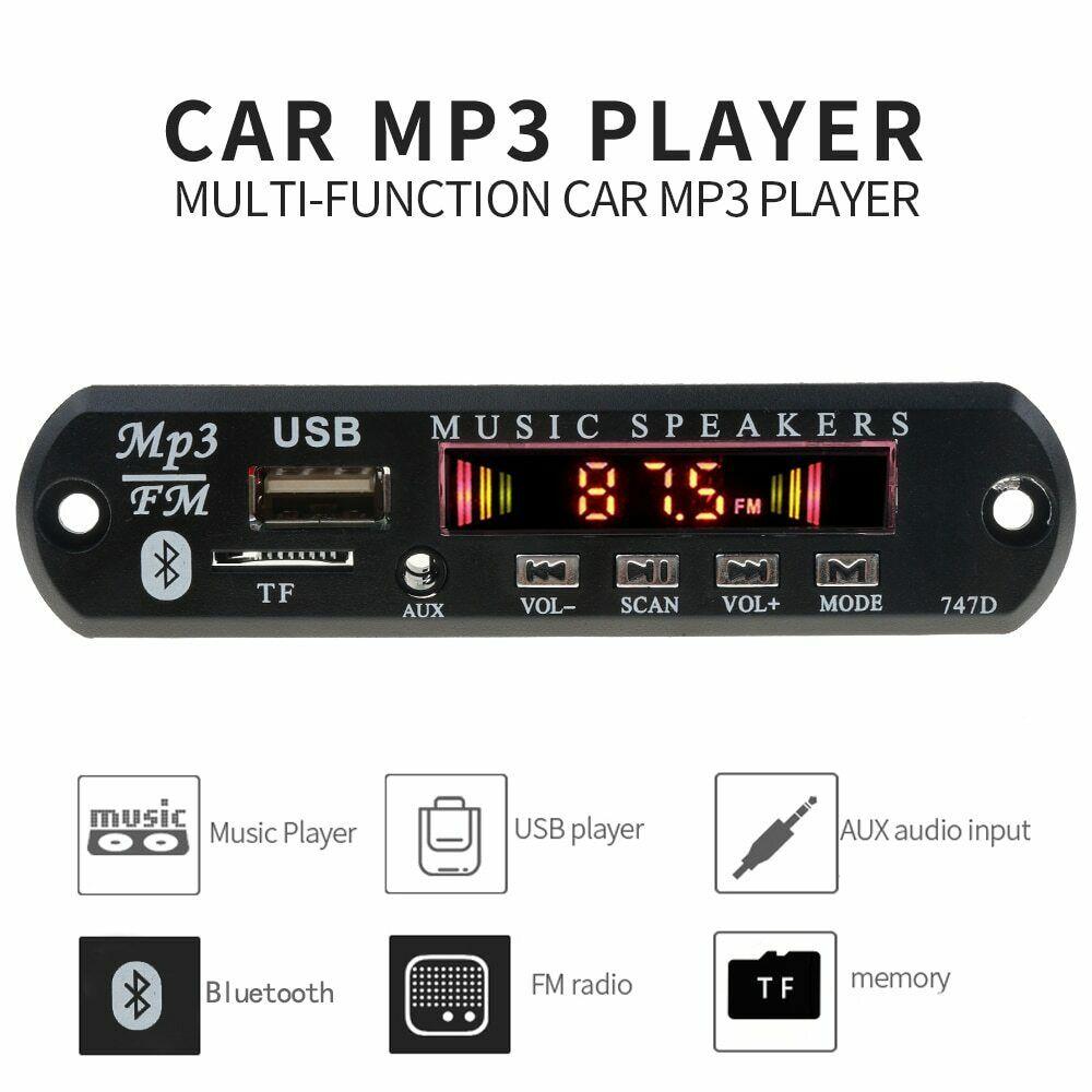 Автогнитола радио Bluetooth автомобильный радиоприемник Беспроводная автомобильная аудиосистема USB TF FM Плата декодера MP3 WMA-плеер с дистанционн...