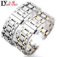 23mm 24mm T035627 T035614 New Watch Parts Male Solid Stainless steel bracelet strap Watch Bands For Tissot T035 free shipping