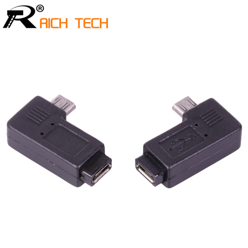 3pcs 90 Degree Elbow Micro USB male female Connector Micro USB male plug to Micro USB Female jack extand adapter vakind black right angle 90 degree l shape adapter micro usb female to micro usb male adapter charging cable connector adapter