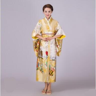 2018 Cosplay japonais Kimono dames scène nationale Costume imprimé vêtements femmes lâche Style trois quarts manches longues vêtements