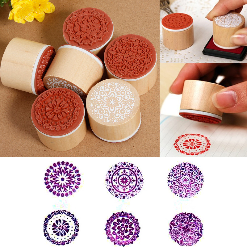 Wedding Rubber Stamping.Us 2 08 24 Off 6pcs Round Wooden Rubber Stamps For Scrapbooking Stamping Diy Wedding Invitation Cards Decorations Embossing Stamps In Stamps From