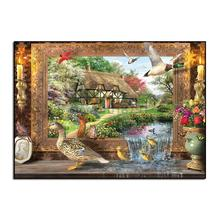 New 100% Full Diamond embroidery Needlework Diy Painting Kit Cross Stitch Plants Embroidery Beauty tiger