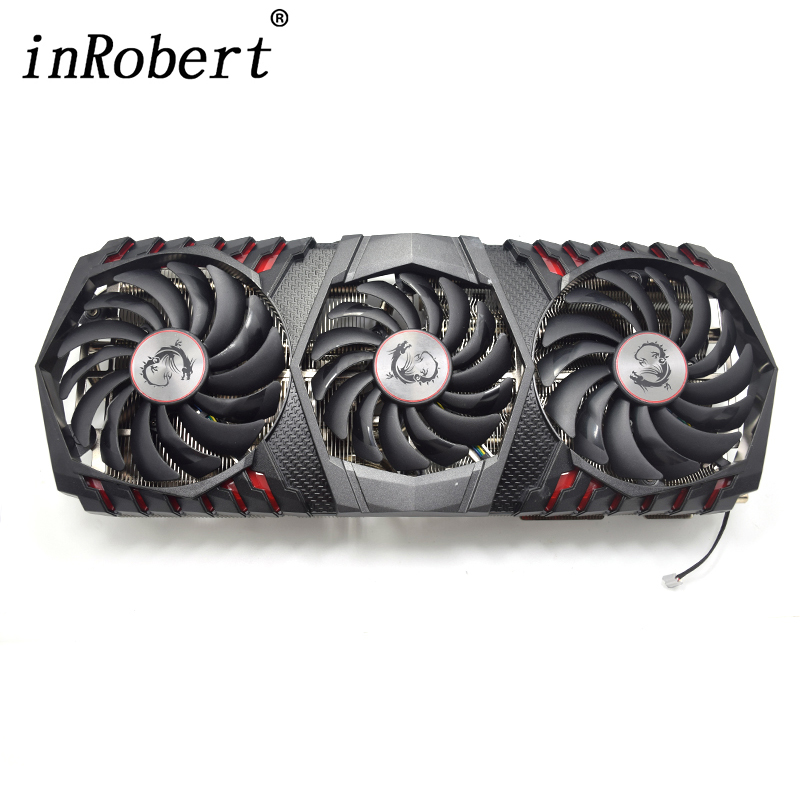 New 95MM Cooler Fan Radiator Replacement For MSI GEFORCE GTX 1080 TI GAMING X TRIO Graphics Card Cooling Fans free shipping radiator computer cooler fan cooling msi gtx980 gtx 970 gaming video vga graphics card