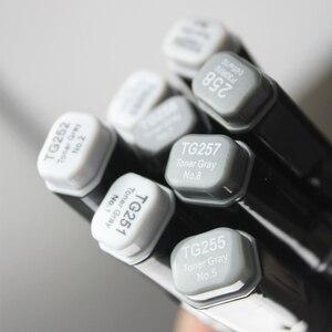 Image 4 - Finecolour EF102 Мягкие кисти, профессиональные скетч, двухсторонние чернила на спиртовой основе, серые серии 8 цветов, художественные маркеры