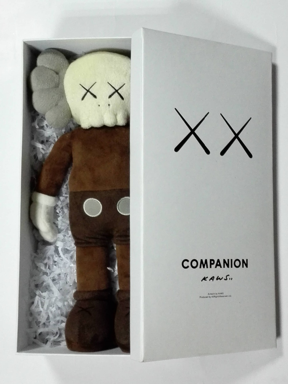 Kaws prototype plush doll doll 16 Inch KAWS BFF Pink rabbit Fashion Doll OriginalFake Brian Street Art Action Figure Collectible 12 inch kaws bff pink rabbit fashion doll originalfake brian street art pvc action figure collectible model toy retail box s168