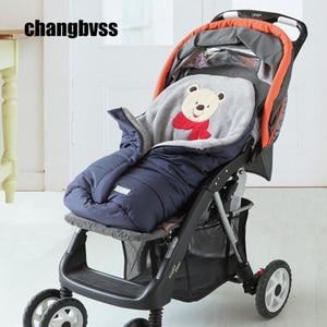 Image 2 - Autumn Winter Warm Baby Sleeping Bag Sleepsack For Stroller,Soft Sleeping bag for baby,Baby slaapzak,sac couchage naissance