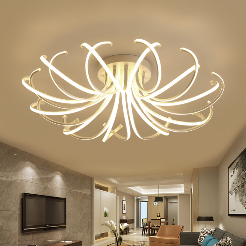 Nouvelle Arrivée Moderne led plafond lumières lustre pour salon chambre salle à manger salle D'étude En Aluminium led Lustre lampe appareils