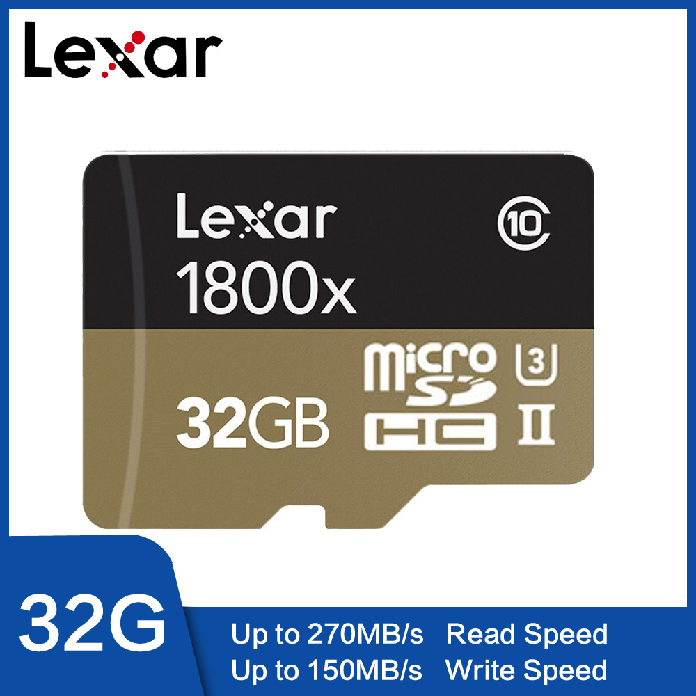 Lexar 1800x cartão de memória 32 gb 64 gb profissional micro sd cartão class10 UHS-II u3 sdhc sdxc 270 mb/s tf cartão
