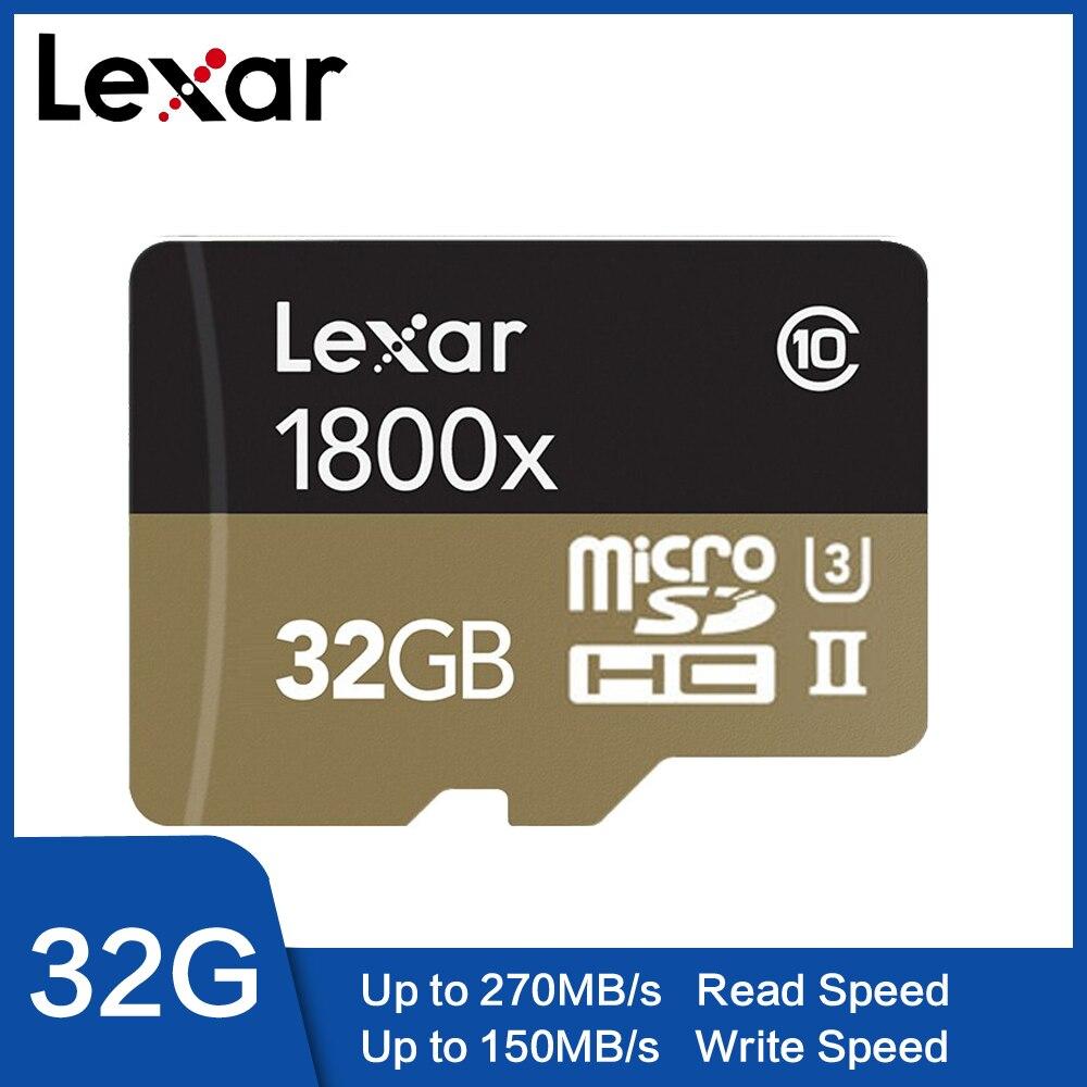 Cartão de Memória Lexar 1800X 32GB 64GB Profissional Class10 UHS-II U3 SDHC SDXC 270 MB/s Cartão Micro SD TF cartão