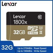 Carte mémoire Lexar 1800X 32GB 64GB carte Micro SD professionnelle Class10 UHS II U3 SDHC SDXC 270 mo/s carte TF