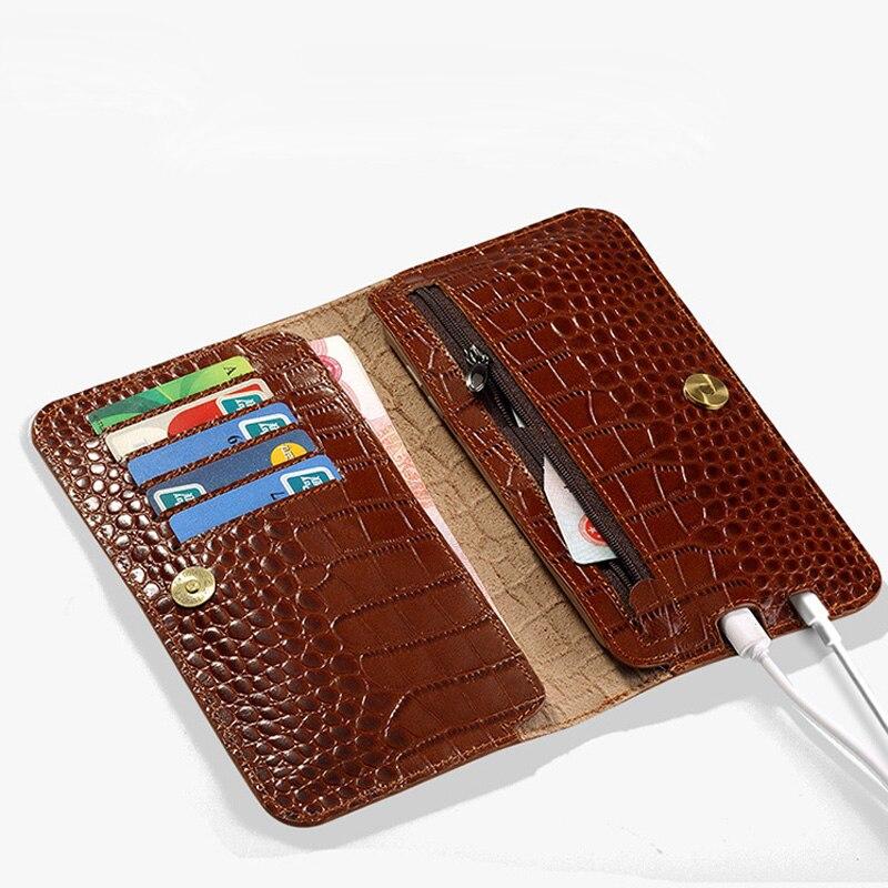 Genuine Leather Flip Phone Case For Xiaomi Mi 5 6 8 A1 A2 Max 2 case Crocodile Texture Wallet Bag For Redmi Note 4 4X 4A 5 Plus