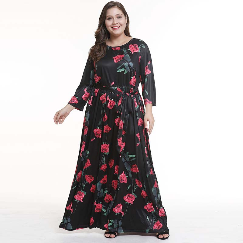 8e6ea56b28 Plus Size 3XL Sexy Women Summer Sleeveless Print Dress Boho Maxi ...