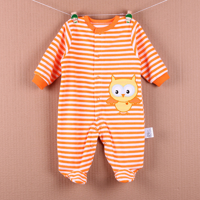 Infant clothing Baby jacket thickening of the package feet sweaters jumpsuit clothing baby clothes
