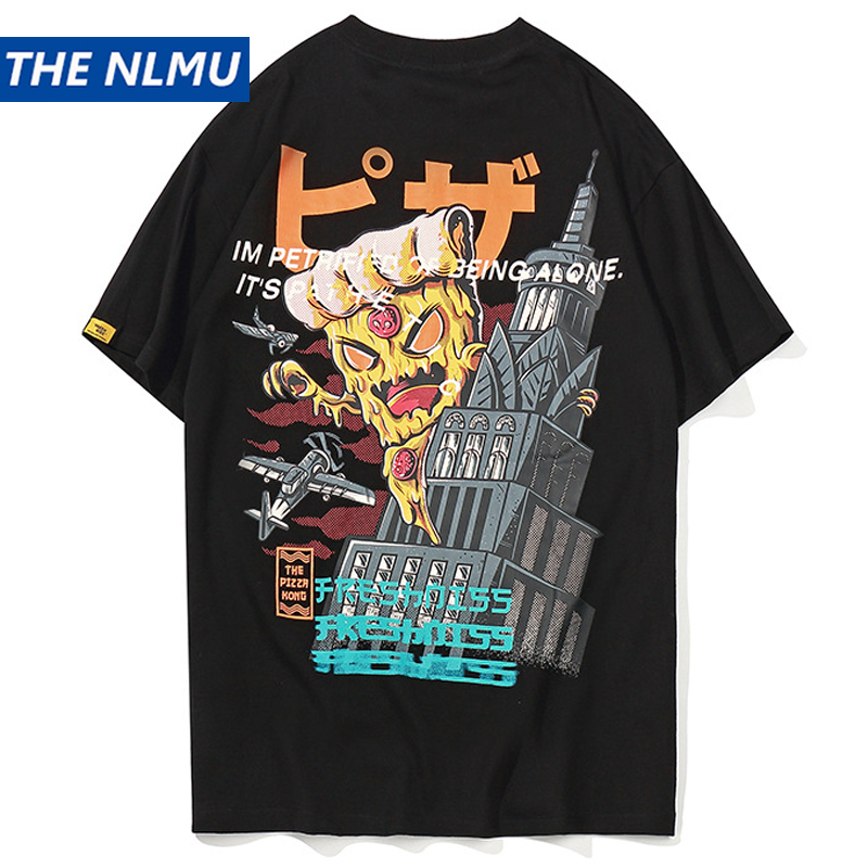 Hip Hop Print t shirts Streetwear Harajuku Casual Short Sleeve T-Shirts 2019 Summer Spring Male Tops Tees Red White HS30