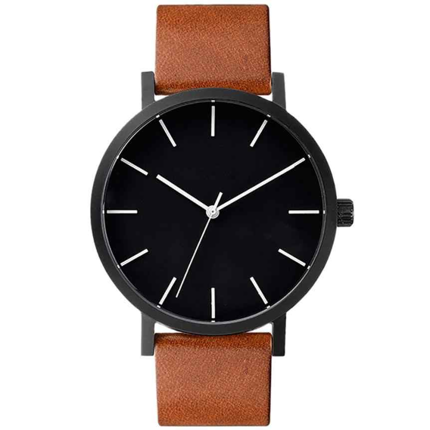 Luxury Brand Watch Men Pu Leather Quartz Watch Chronograph Sport Watch Erkek Saat Reloj Hombre Montre Homme Relogio Masculino