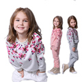 Children clothing spring autumn girls clothing set floral printed kids suit set casual two-piece sport suit for girl tracksuit