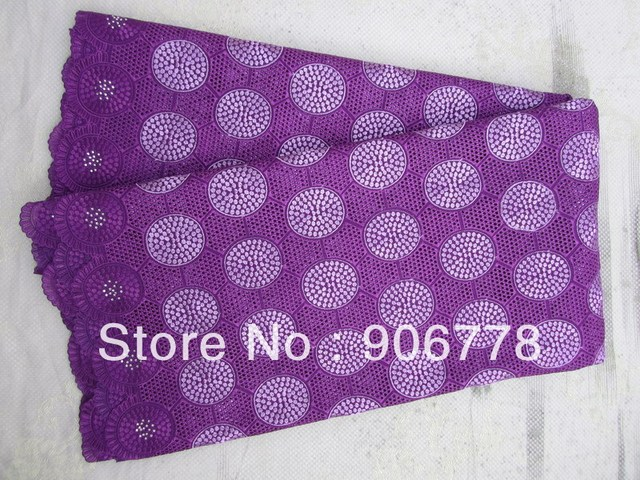 french big heavy lace free shipping purple color latest design  French organza lace swiss voile lace