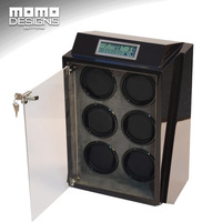 6 Slots Luxury Wooden Automatic Watch Winder Storage Box New Watch Winder With LED Light Motor