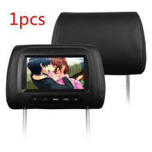"1pcs 7 inch 800×480 Digital Screen Resolution Black Leather 7"" LCD monitor display Car Pillow monitor audio car styling"