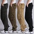 Envío Libre 30-44 Alta Calidad de Los Hombres joggers Pantalones Militares de Carga para Los Hombres Pantalones tácticos Guardapolvos Hombres de Camuflaje moda J6