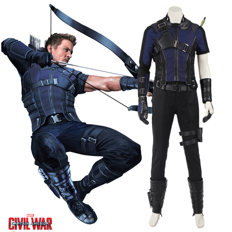 Marvelu0027s Captain America Civil War Hawkeye Costume Cosplay Adult Men Superhero Hawkeye Clinton Francis Barton Outfit Halloween-in Movie u0026 TV costumes from ...  sc 1 st  AliExpress.com & Marvelu0027s Captain America Civil War Hawkeye Costume Cosplay Adult Men ...