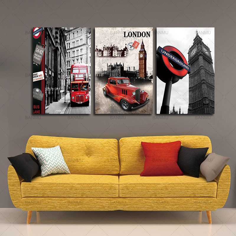 Aliexpress Com Buy Free Shipping 3 Piece Wall Decor: 3 Piece Free Shipping Hot Sell Modern Canvas Wall Painting