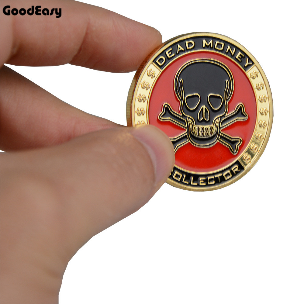 Hot Poker Card Guard Protector Metal Token Coin with Plastic Cover Texas Poker Chip Set Pokerstars Dealer Skull Button Collect