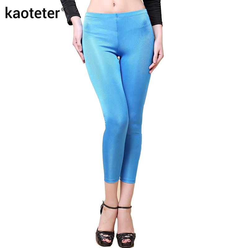 100% Pure Silk Women's   Leggings   Women Ankle-Length Pencil Pants Female Casual Wild Bottoming Trousers For Woman