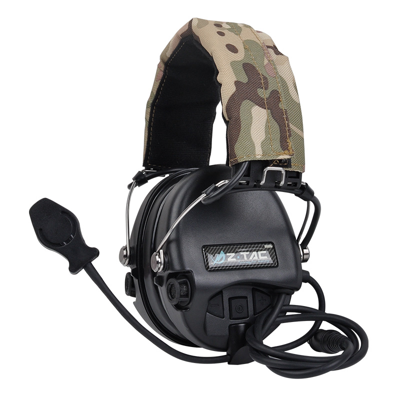 Casque de chasse casque tactique Airsoft Camouflage casque Standard militaire suppression de bruit casque de talkie-walkie d'aviation