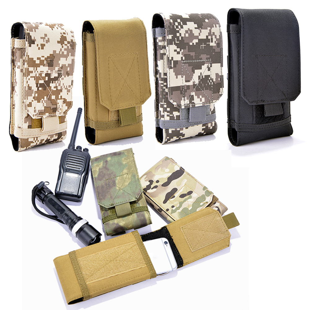 New Nylon Waist Phone Case Cover Molle Holster Army Camo Belt Pouch Bag Military Wallet camo print nylon crossbody bag